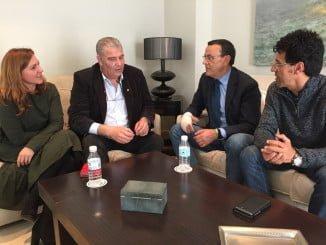 Reunión de Caraballo, presidente de la Diputación Provincial de Huelva con el de UPA, Manuel Piedra