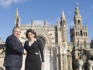 Los ministros del Interior de España, Juan Ignacio Zoido, y de Portugal, Constança Urbano de Sousa, tras u reunión bilateral sobre temas de cooperación y seguridad