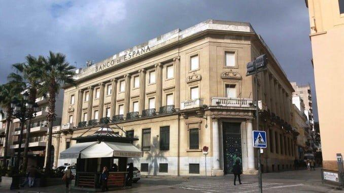 Edificio del Banco de España que los onubenses quieren recuperar para un Museo Arqueológico