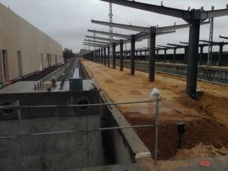 Obras de la nueva estación de Huelva, uno de los proyectos en marcha de Fomento