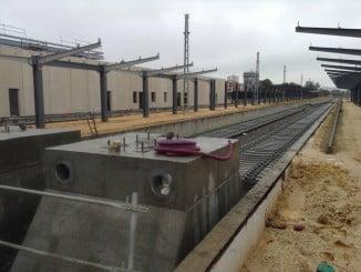Obras de la nueva estación de Huelva