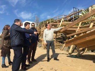 Los populares revisan los daños provocados por el último temporal