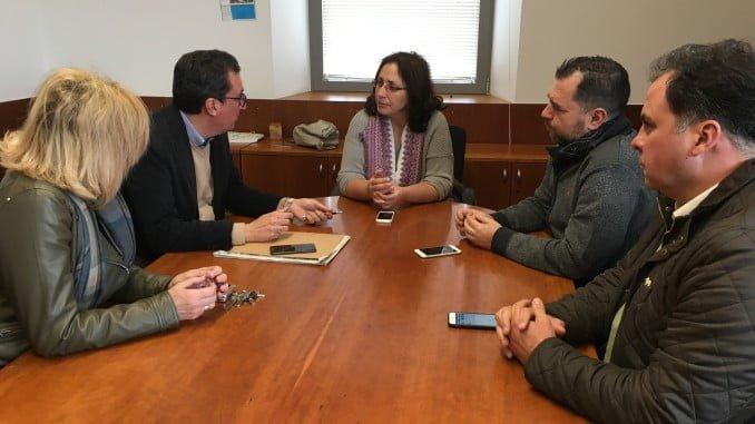 El presidente del PP en Huelva se ha reunido con la alcaldesa, Rosa Caballero, y los diputados provinciales Juan Carlos Duarte y José Domingo Doblado para analizar la situación de la Sanidad en la Cuenca Minera