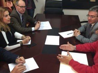 Díaz Tillo se entrevista con el rector de la onubense que le da el apoyo de la Universidad al proyecto CEUS
