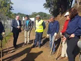 Visita del delegado del Gobierno de la Junta en Huelva a Galaroza