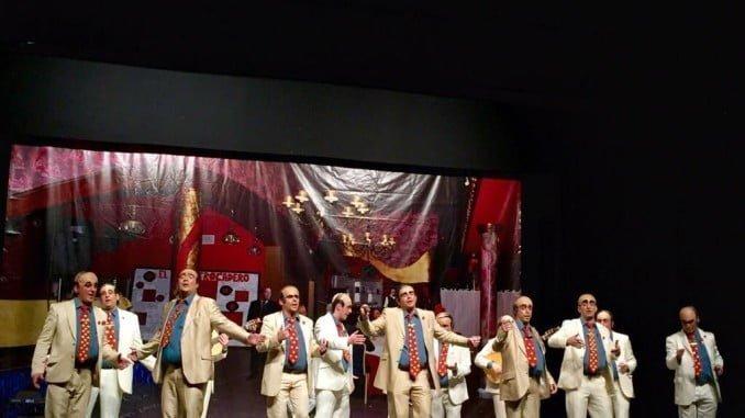 Los Titos, chirigota de Valverde, obtuvo el primer premio en esa modalidad en el Concurso de Agrupaciones de la localidad de Valverde