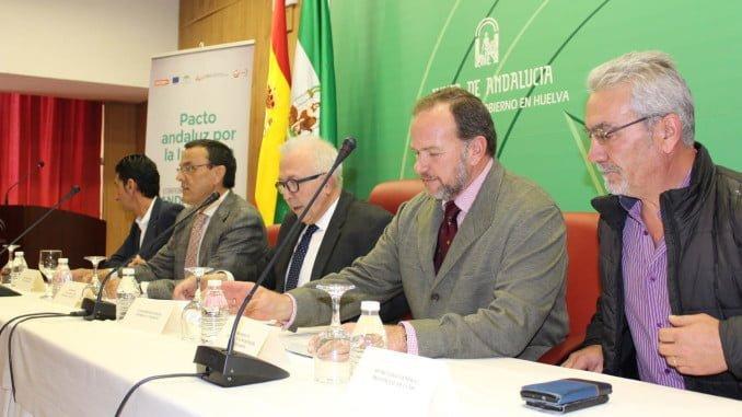El presidente de la Foe en la presentación en Huelva del Pacto Andaluz por la Industria