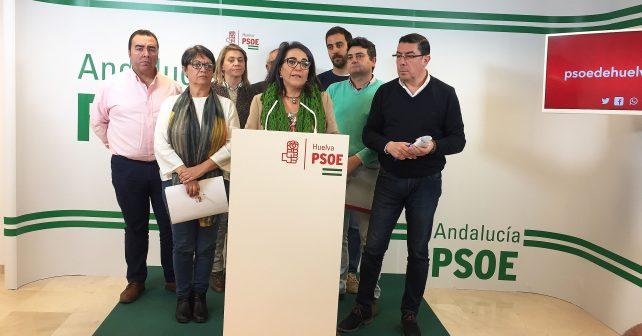 González Bayo junto al secretario de Política Municipal de la Ejecutiva Provincial y parlamentarios socialistas