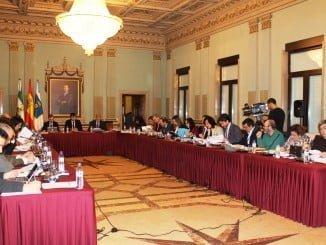 Sesión plenaria en la que se han aprobado las nuevas bonificaciones tarifarias de Emtusa