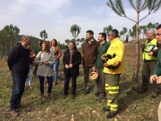 Fiscal ha supervisado los trabajos de prevención de incendios en el monte público de Carabales, en Valverde