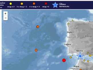 Un terremoto de 4,2 se ha producido frente a las costas de Hueva. precedido de otros dos de menor intensidad y un último esta noche en Jerez de la Frontera.
