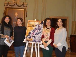 Hoy se ha presentado el amplio cartel de actividades conjuntas que, Diputación, UHU, IAM y Ayuntamiento, ha programado con motivo del Día de la Mujer
