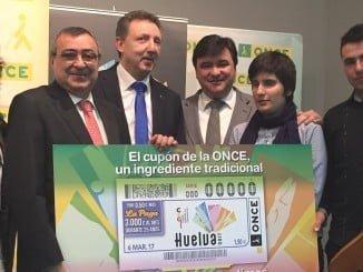 El cuón dedicado a Huelva se verá en los 20.000 puntos de venta que tiene la ONCE en toda España