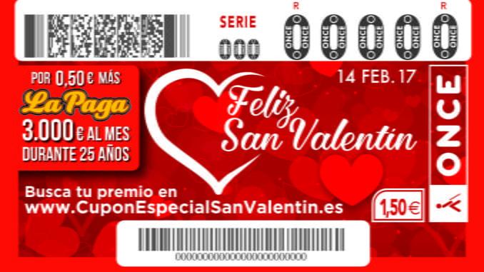 La Once dedicó el sorteo del 14 de febrero a San Valentín