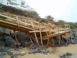 Los destrozos en el Portil han sido enormes