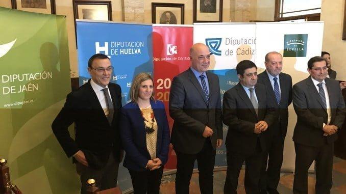 Representantes de Diputaciones andaluzas, entre los que se encuentra Caraballo, se han reunido en Rute