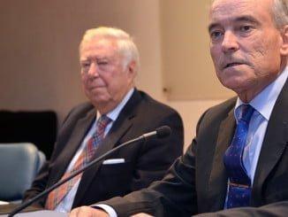 El director general del Inta, junto a García Palacios, en una visita a Huelva