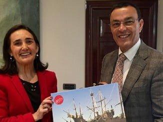 Encuentro institucional entre la subdelegada del Gobierno en Huelva y el presidente de Diputación