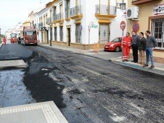 El alcalde de Palos de la Frontera supervisa las obras de su municipio