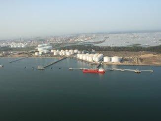 Pantalanes del puerto exterior de Huelva