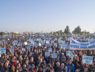 Una de las protestas pidiendo la puesta en marcha del plan de regadíos