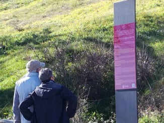 El nuevo panel informativo sobre el castillo de Aracena