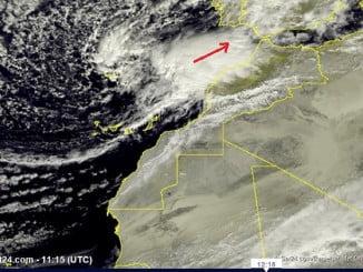 El frente que entrará esta tarde en Huelva todavía puede ser peor