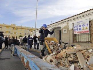 Las obras han comenzado con los trabajos de demolición de los patios interiores