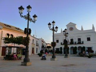 Uno de los enclaves propuestos para el wifi gratis es la plaza de las Sirenas, en El Rompido