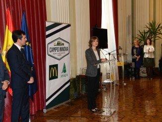 """La ministra Tejerina durante la presentación del Programa """"Campo Innova. Jóvenes Agricultores y Ganaderos"""""""
