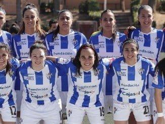 Equipo de salida del Sporting de Huelva en Levante UD
