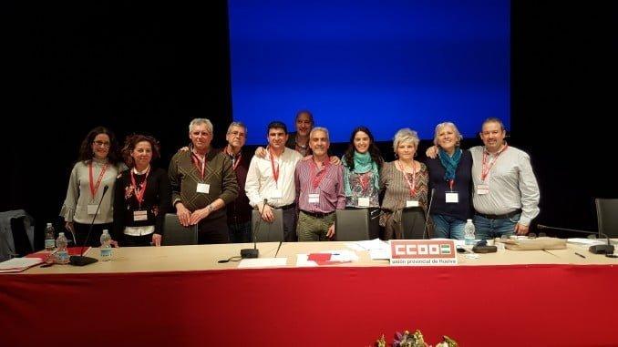 Reelección de Emilio Fernández en el XIII Congreso de la Unión Provincial de CCOO en Huelva