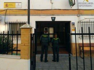 Guardia Civil de Isla Cristina que ha llevado la operación de detención del individuo en búsqueda y captura con sigilo