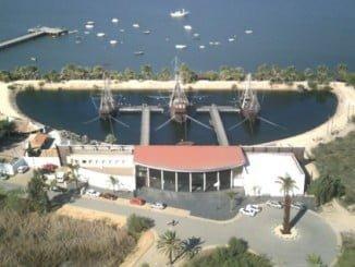 Muelle de las carabelas, en Palos de la Frontera
