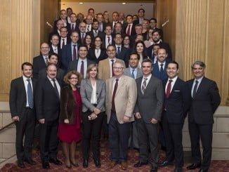 Asistentes hoy en Seattle a las dos jornadas del I Encuentro de Proveedores Españoles de Boeing, en el que participan la veintena de compañías pertenecientes al Cluster aeroespacial andaluz