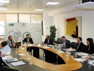Consejo de Administración de Extenda, presidido por el secretario general de Economía, Gaspar Llanes