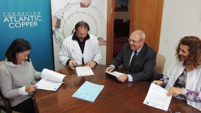Firma del convenio entre Fundación Atlantic Copper, CurArte y Fabis
