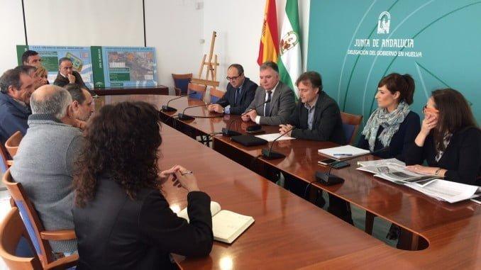 El consejero de Medio Ambiente ha presentado en Huelva la EDAR de la Cuenca Minera