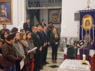 El primer edil ha asistido a la novena en honor de Nuestro Padre Jesús Nazareno y a la eucaristía en honor de Jesús de la Humildad