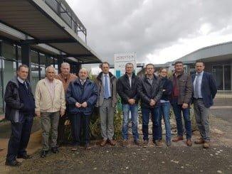 Miembros del Grupo de Contacto Hispano-Franco-Italiano de fresa en Agen (Francia)