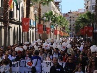 Huelva se manifestó el domingo 12 de marzo por tercera vez para pedir una sanidad digna
