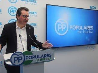 """González ha destacado que """"el refuerzo del papel del PP de Huelva en el nuevo organigrama del PP andaluz demuestra  fortaleza y unidad"""