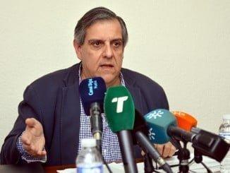Juan José García del Hoyo, portavoz de la Agrupación de Interés por las Infraestructuras de Huelva