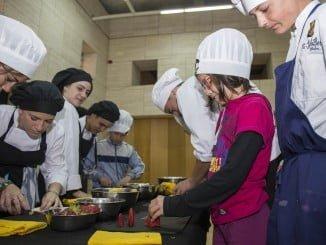 Los niños también participaron en los talleres gastronómicos