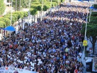 Huelva vuelve a manifestarse reclamando una sanidad pública digna