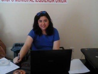 Maria del Carmen Manuel, portavoz IU en el Ayuntamiento de Manzanilla