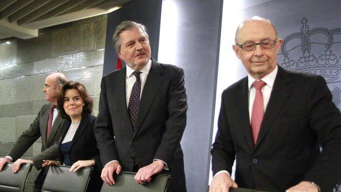 Imagen previa a la rueda de prensa tras el Consejo de Ministros