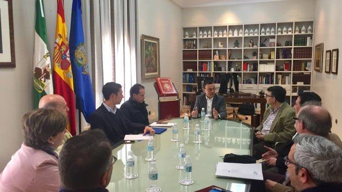 El presidente de la Diputación ha mantenido un encuentro institucional con Bareca
