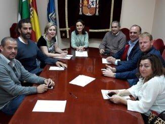 Reunión de empresarios de la FOE con la subdelegada del Gobierno