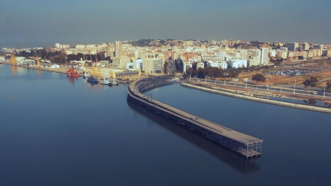 Vista aérea de la zona del rodaje en Huelva